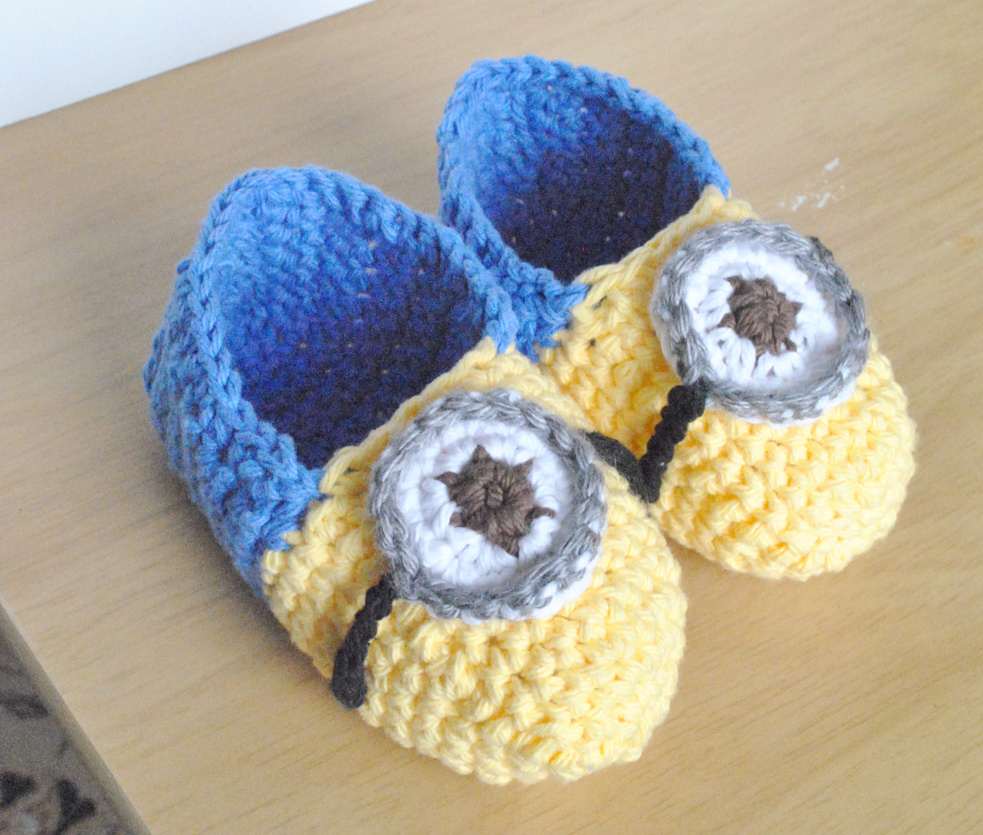 Free Pattern Crochet Minion Slippers : Minion inspired slippers Bowties and fezzes