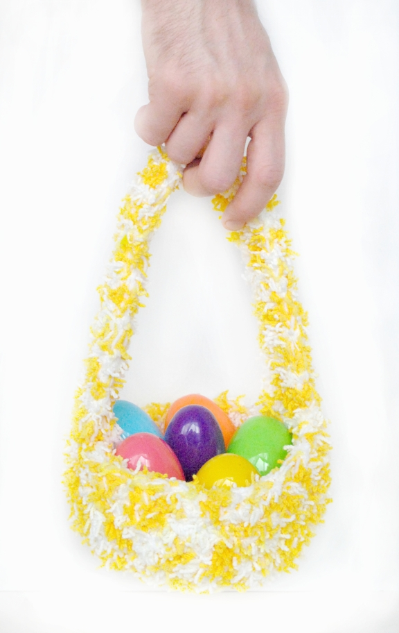 easter basket hand