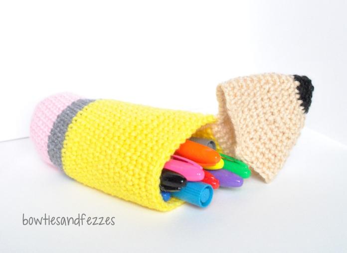 pencil crochet sideways case WM