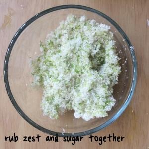 zest + sugar
