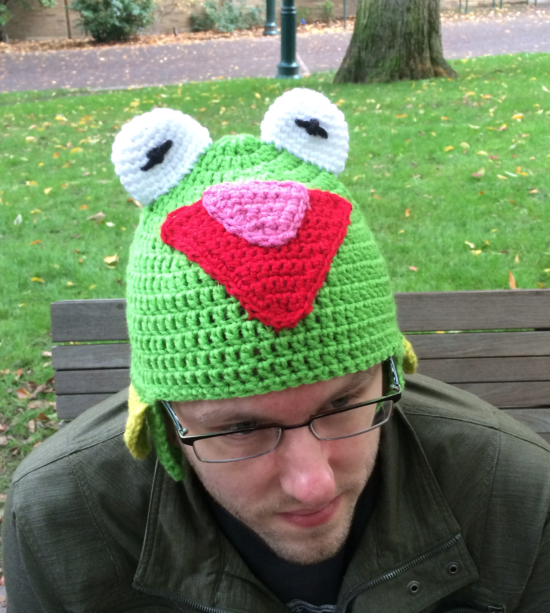 Free Crochet Pattern For Kermit The Frog Hat : Kermit the frog crochet hat pattern Bowties and fezzes