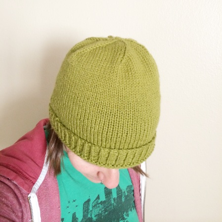 green hat front top