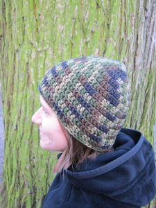 camo hat on crochet