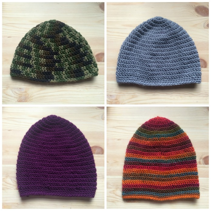 crochet hats collage